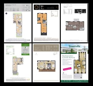 Grundrissaufbereitung für Immobilienmarketing